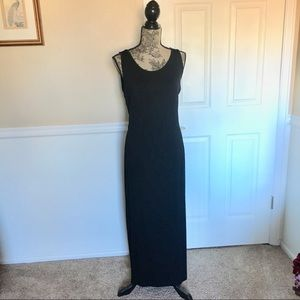 Black maxi dress, size large